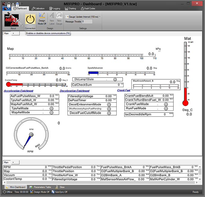 dashboard mefipro about tuning software for mefi 5 electronic control mefi 5 wiring diagram at gsmx.co